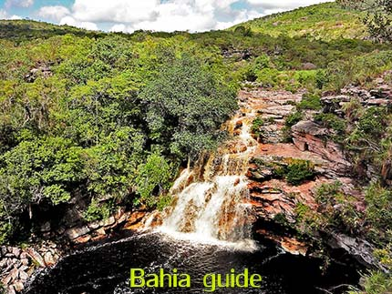 Poço do Diabo waterfalls while visiting Chapada Diamantiana national park with Ivan Salvador da Bahia & official tour guide