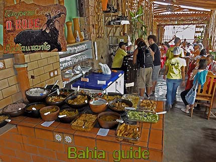 Typical culinairy specialties in the village of Lençois while visiting Chapada Diamantiana national park with Ivan Salvador da Bahia & official tour guide