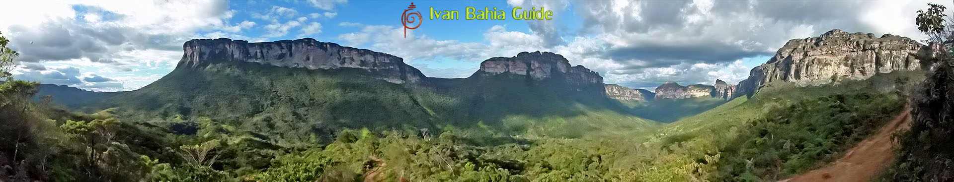 Ivan Bahia tour-guide / hiking in Chapada Diamantina National Park (aka 'the Brazilian Grand Canyon') mountain views while hiking