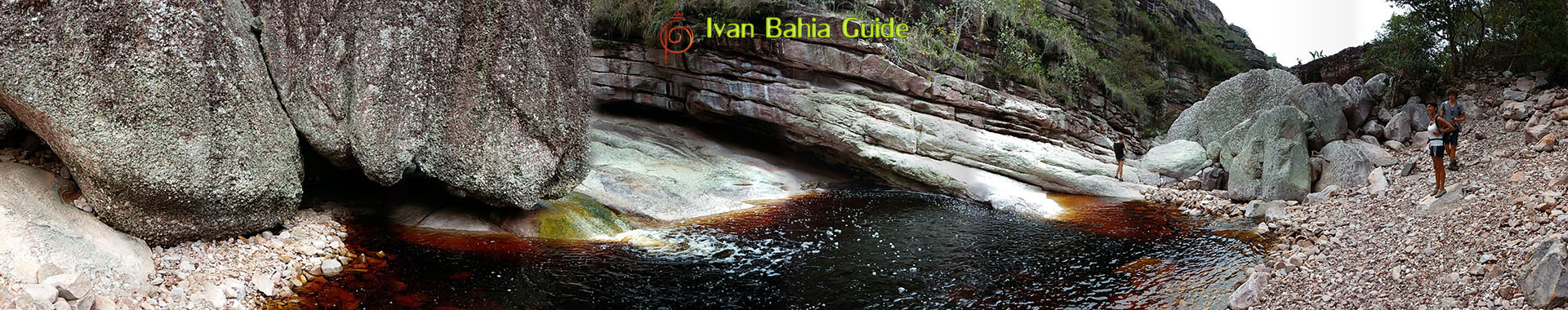 Ivan Bahia tour-guide / hiking in Chapada Diamantina National Park (aka 'the Brazilian Grand Canyon') river-hiking, Canto das Aguas Hotel