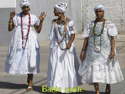 Traditional Candomblé religion clothing in Cachoeira while visiting the Recôncavo Baiano in Brazil with Ivan Salvador da Bahia & official tour guide