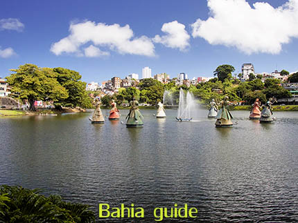 Point of views in Salvador while visiting Bahia with Ivan Salvador da Bahia & official tour guide during the Salvador, 500 years in 1 day tour, Dique de Tororo with his famous Candomblé gods statues in the water