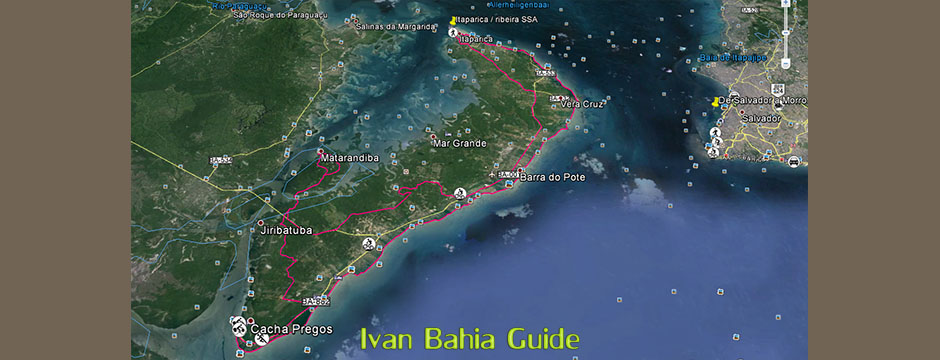 Itaparica island TREKKING route (Bay of All Saints, Brazil) - Ivan Bahia Guide