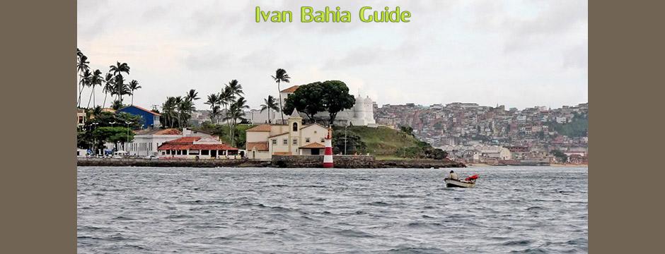 Salvador Ribeira with Bonfim church on top - with Ivan's Salvador da Bahia & Chapada Diamantiana national park's official tour guide