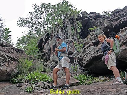 Onze locale gids Trajano zorgt voor jouw begeleiding, fotos Chapada Diamantina nationaal park, wandelingen & trekking met vlaamse reis-gids Ivan (die al 10 jaar in Bahia woont) voor uw rond-reis met begeleiding in het Nederlands in Brazilië