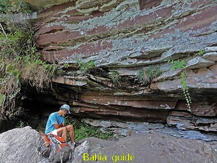 Water tanken uit de rotsen, fotos Chapada Diamantina nationaal park, wandelingen & trekking met vlaamse reis-gids Ivan (die al 10 jaar in Bahia woont) voor uw rond-reis met begeleiding in het Nederlands in Brazilië
