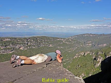 Cascata da Fumaça waterval waarvan je 380m naar beneden kijkt, fotos Chapada Diamantina nationaal park, wandelingen & trekking met vlaamse reis-gids Ivan (die al 10 jaar in Bahia woont) voor uw rond-reis met begeleiding in het Nederlands in Brazilië